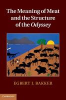 The Meaning of Meat and the Structure of the Odyssey PDF