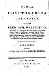 Flora cryptogamica Germaniae: Volume 1
