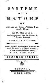 Système de la nature: ou Des loix du monde physique et du monde moral