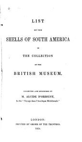 List of the Shells of South America in the Collection of the British Museum