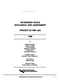 Watershed scale Ecological Risk Assessment