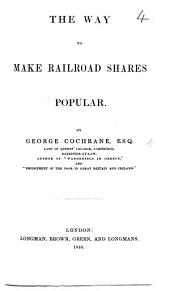 The Way to Make Railroad Shares Popular