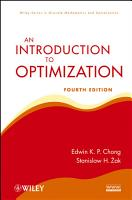 An Introduction to Optimization PDF