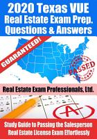 2020 Texas VUE Real Estate Exam Prep Questions   Answers PDF