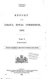 Jamaica. Report of the Jamaica Royal Commission, 1866