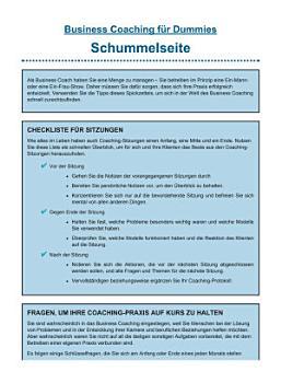 Business Coaching f  r Dummies PDF