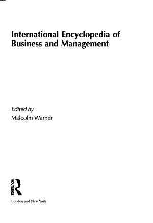 International Encyclopedia of Business and Management PDF