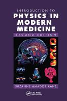 Introduction to Physics in Modern Medicine  Second Edition PDF