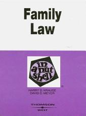 Family Law in a Nutshell, 5th: Edition 5