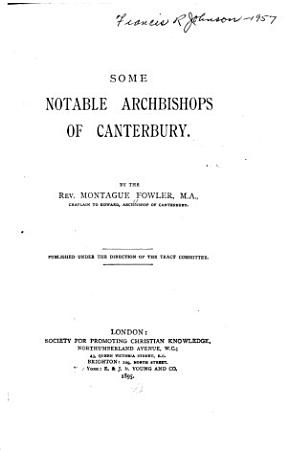 Some Notable Archbishops of Canterbury PDF