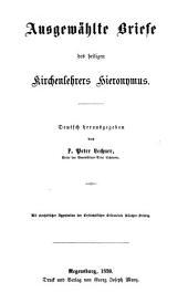 Ausgewählte Briefe des heiligen Kirchenlehrers Hieronymus
