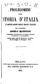 Prolegomeni alla storia d'Italia in continuazione delle origini italiche