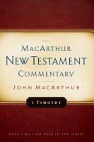 1 Timothy MacArthur New Testament Commentary PDF