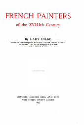 French Painters of the XVIIIth Century