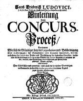 Einleitung zum Concurs-Proceß