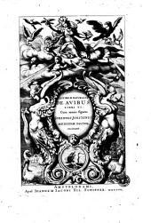 Historiae naturalis de avibus libri 6. Cum aeneis figuris Johannes Jonstonus, medicinae doctor, concinnavit