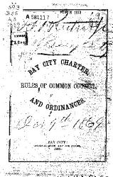 Bay City Charter And Ordinances Rules Of Common Council Book PDF
