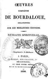 Oeuvres complètes de Bourdaloue: Volumes27à28