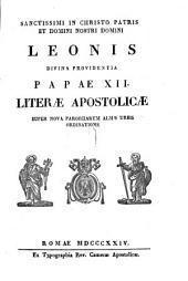 Literae apostolicae super nova paroeciarum almae Urbis ordinatione