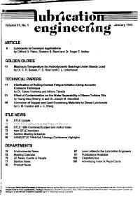 Lubrication Engineering