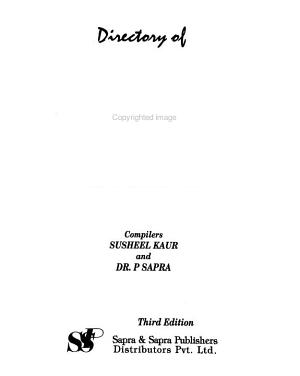 Directory of Periodicals Published in India PDF
