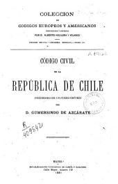 Código civil de la Republica de Chile: precedido de un juicio crítico