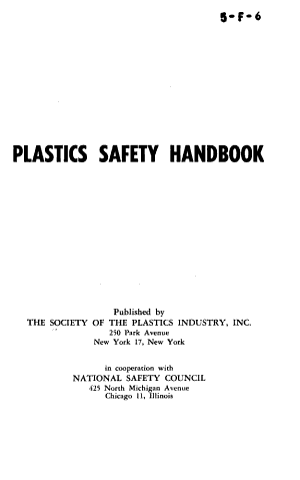 Plastics Safety Handbook