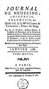 Journal de médecine, de chirurgie et de pharmacie: Volume 28