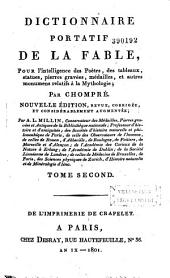 Dictionnaire portatif de la fable: Volume 1