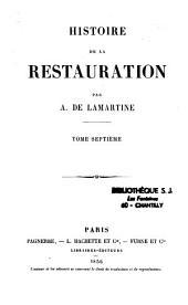 Histoire de la Restauration: Volumes1à8