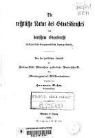 Die rechtliche Natur des Staatsdienstes nach deutschem Staatsrecht historisch dogmatisch dargestellt PDF
