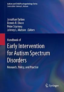 Handbook of Early Intervention for Autism Spectrum Disorders PDF