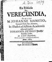 Ex Ethicis De Verecundia