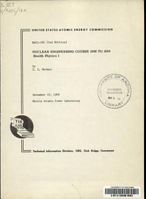 Nuclear Engineering Course 1948 to 1949 PDF
