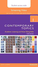 Contemporary Topics 1 Streaming Video Access Code Card PDF