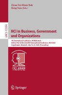 HCI in Business, Government and Organizations