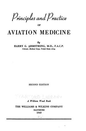 Principles and Practice of Aviation Medicine PDF