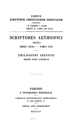 Philosophi abessini: Volume 18