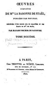 Œuvres complètes de Mme. la baronne de Staël: De l'Allemagne