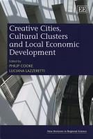 Creative Cities  Cultural Clusters and Local Economic Development PDF