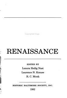 Baltimore  a Living Renaissance PDF