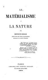 Le matérialisme et la nature
