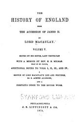 The History of England from the Accession of James II: Volume 5