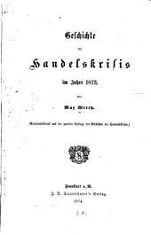 Geschichte der Handelskrisis im Jahre 1873