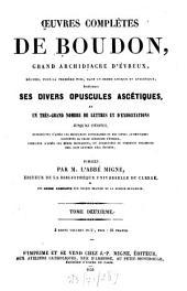 Oeuvres complètes: Publiécs par l'abbé Migne, Volume2
