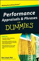 Performance Appraisals and Phrases For Dummies PDF