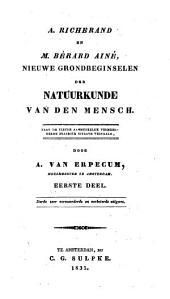 Nieuwe grondbeginselen der natuurkunde van den mensch: Volume 1
