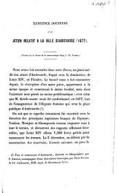 Existence douteuse d'un jeton relatif à la ville d'Audenaerde (1677).