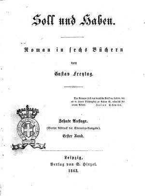 Soll und Haben Roman in sechs B  chern von Gustav Freytag PDF
