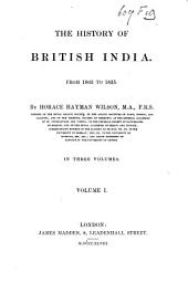 The History of British India: Volume 7